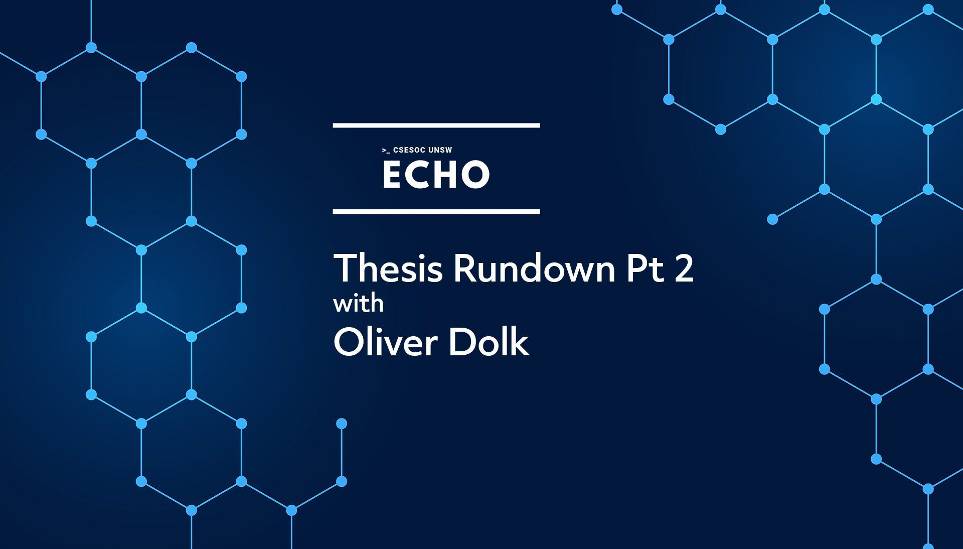 Thesis Rundown Pt 2 w/ Oliver Dolk