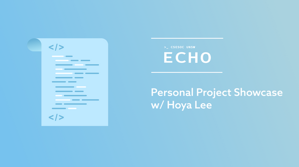 Personal Project Showcase w/ Hoya Lee